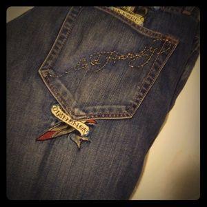 Ed Hardy the artist jeans vintage